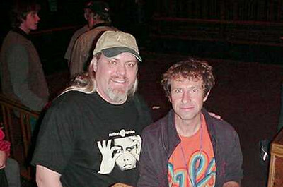 With Pete Trewavas.  Bass player for Marillion.
