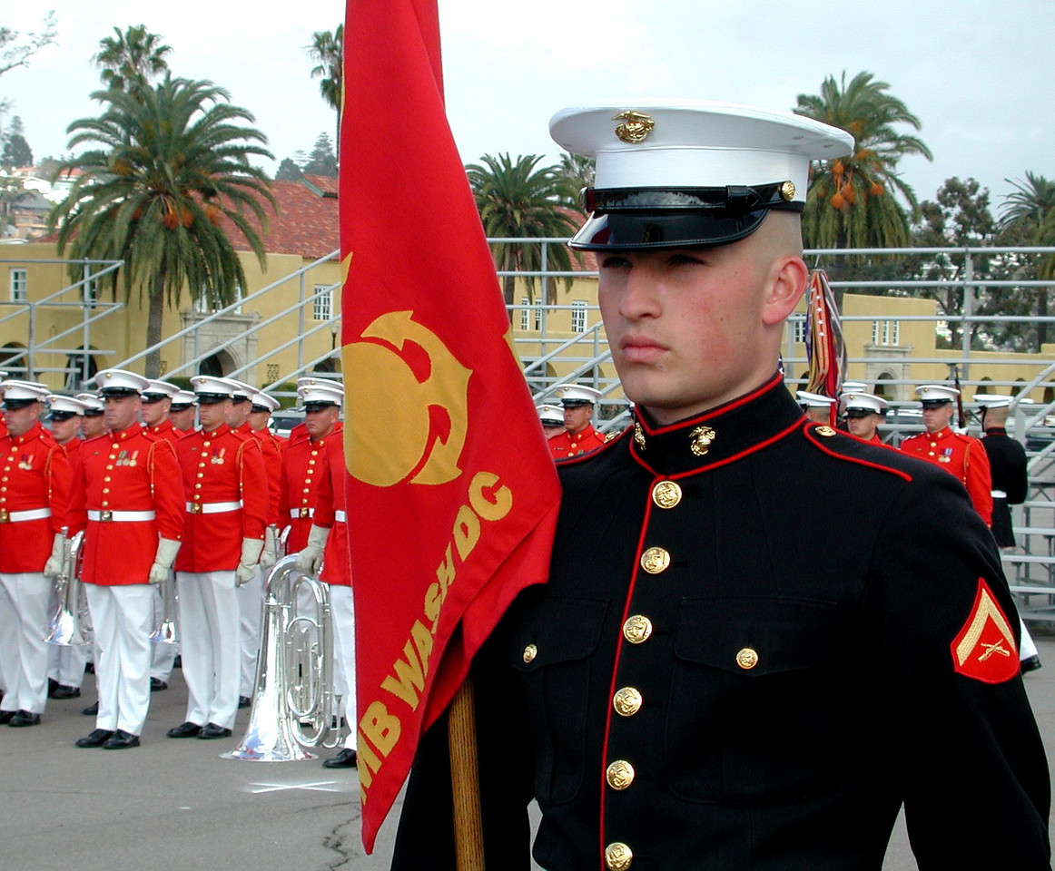 Marine Lance Corporal with Marine Corps Band at MCRD San Diego CA