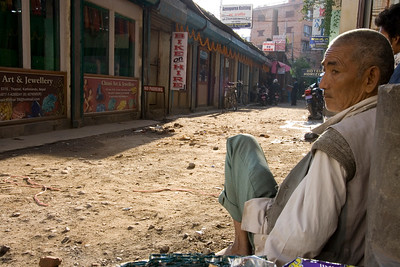 Man guards his alley, Kathmandu