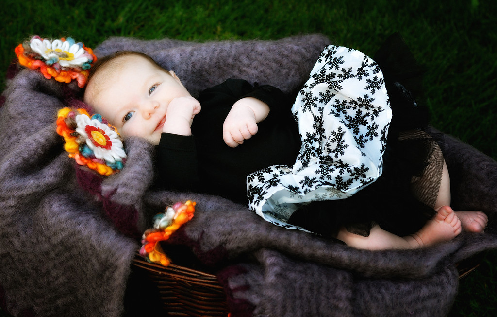 Baby outdoor portrait.