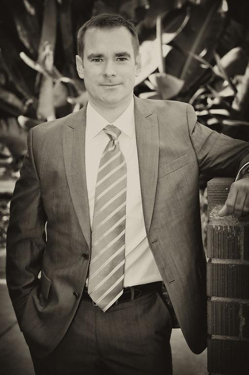 Business portrait. (antique-black & white filter)