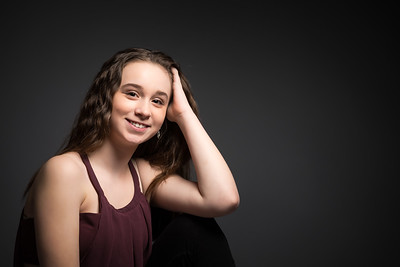 My lovely niece in the studio for a portrait session