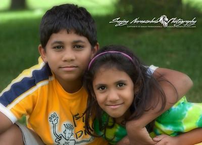 Kethan & Vasantha in Prince Edward Island July 28, 2005