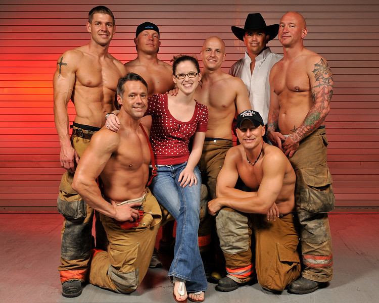 Southern Women's Show, Charity photo shoot with the Nashville Fire Dept.