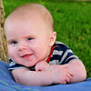 Baby Luke - three month old baby portrait.