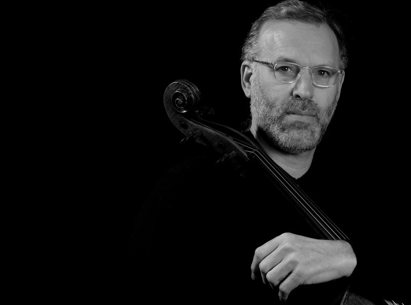 Cellist, Richard L. Aaron, of the University of Michigan School of Music and the Juilliard School