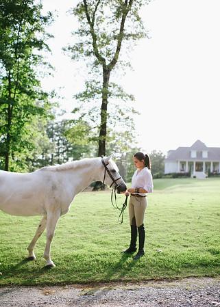 Hannah & her horses.