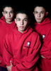 From left---Triplets, Eric, WIlliam and David Leyva from the Garden Grove High School wrestling team.