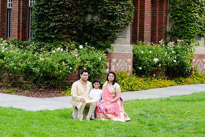 Rao Family at SJSU Tower Hall