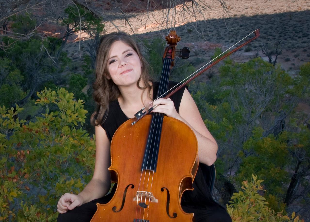 Rebecca Gray, Cellist.  Red Rock, NV.