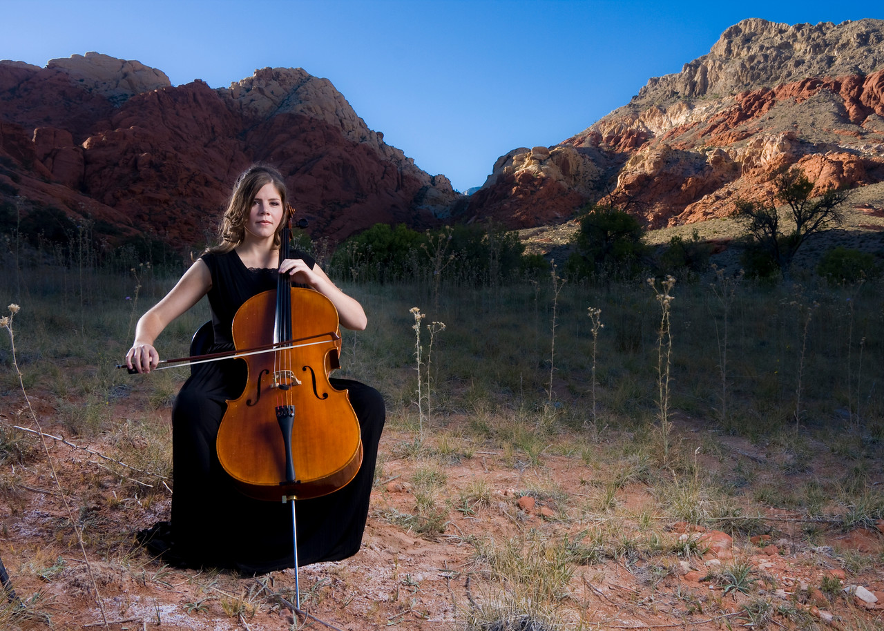 Rebecca Gray, Cellist.  Red Rock, NV.