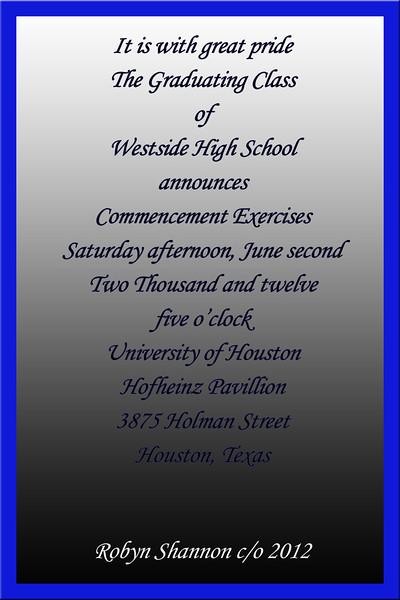 Robyn Graduation announcement 4x6