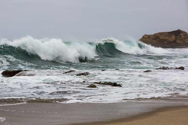 A rare, hurricane south swell in the cove