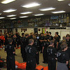 the band room before leaving for competition at the castle