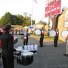 Brandon and his drumline before the game
