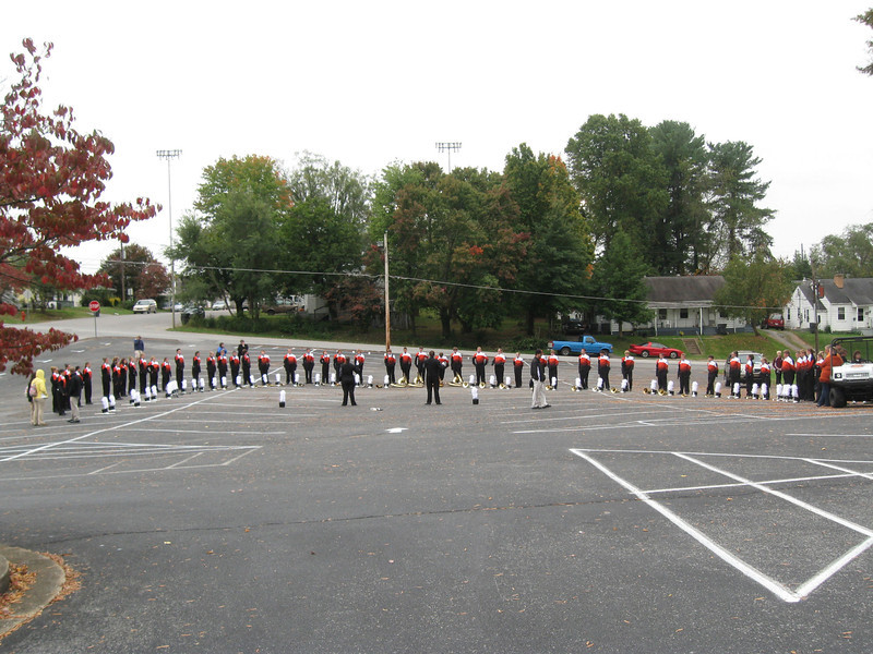 The band right before they head to competition at the castle