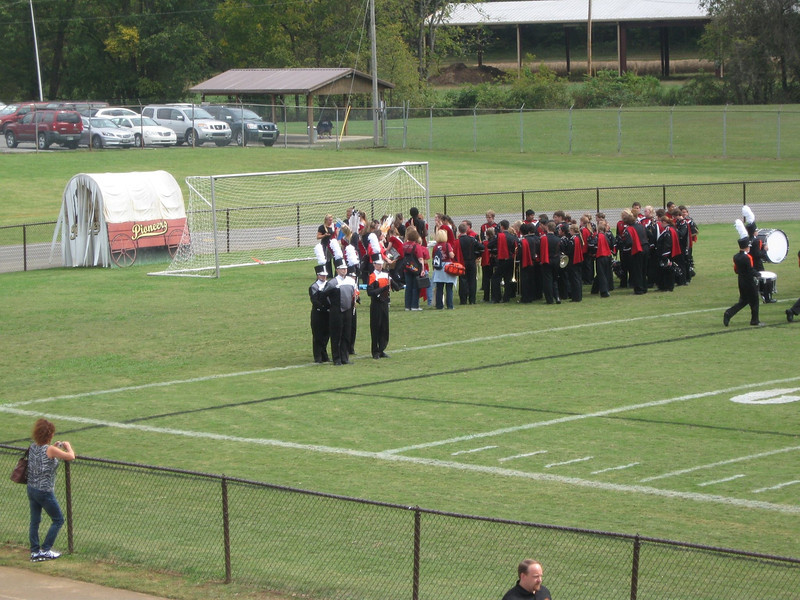 Waiting to take the field