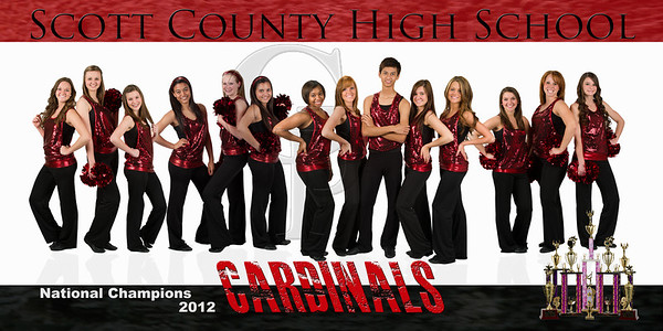 SCHS Dance Team  This print is offered in 2 sizes: 12x24 $25.00 and 5x10 $15.00 To receive the above pricing please email me at Paul@paulgoodmanphotography.com to order.