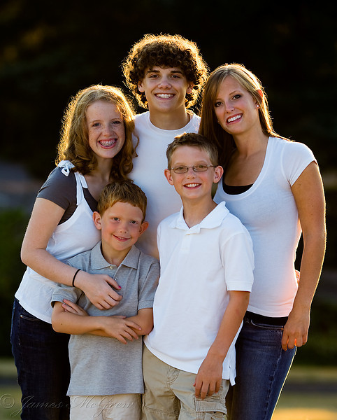An informal family portrait.
