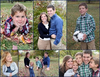 Scott & Angie, Nathan, Mitchell & Chloe Fall Portraits