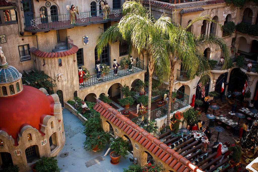 Shot from the 4th floor of the Mission Inn, Riverside CA.