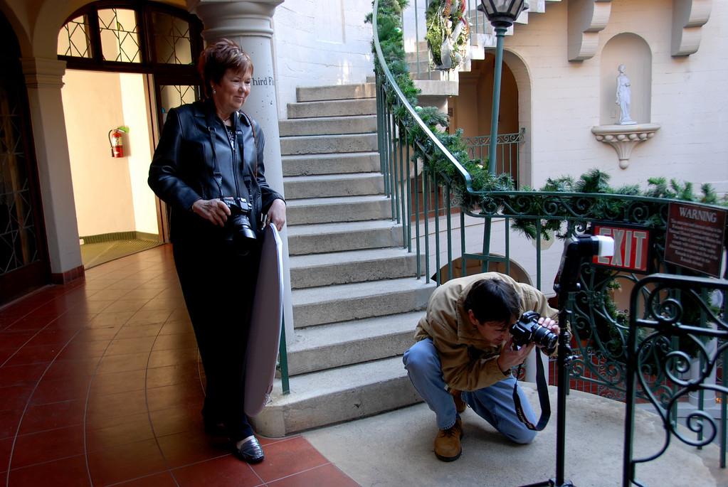 Behind the scenes shot by Judy McLennan.