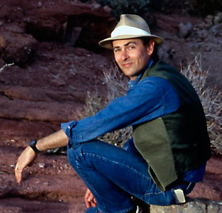 Gary seated on a rock, near Phoenix, Arizona - 1986 or 1987