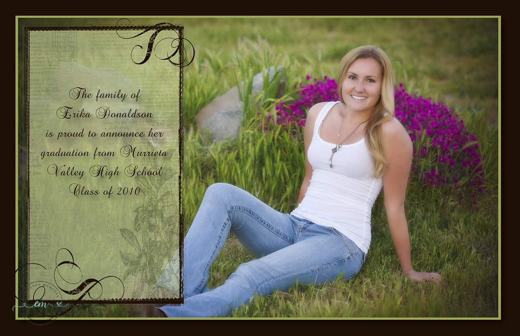 Erica - Graduation Announcement