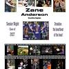 20x24 senior night poster Zane Anderson