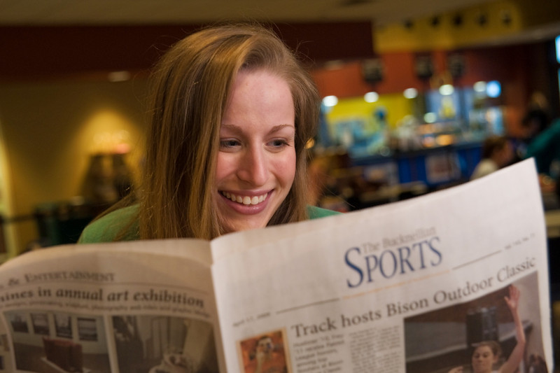 Barbara Perlman, former associate editor of content, sports editor, The Bucknellian