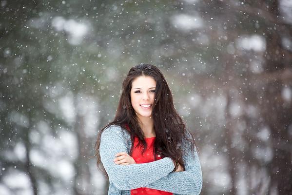 Senior snow pics