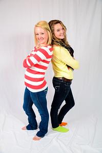 Senior portrait of girl with friend