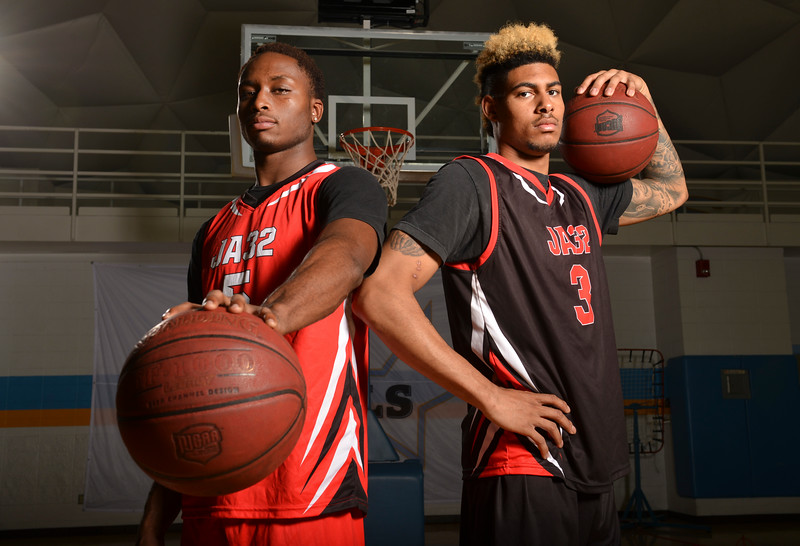Justin Sheely | The Sheridan Press<br /> Sheridan Generals men's basketball sophomores Camron Reece, left, and AJ Bramah made an impression at the JUCO Showcase in Florida earlier this summer.