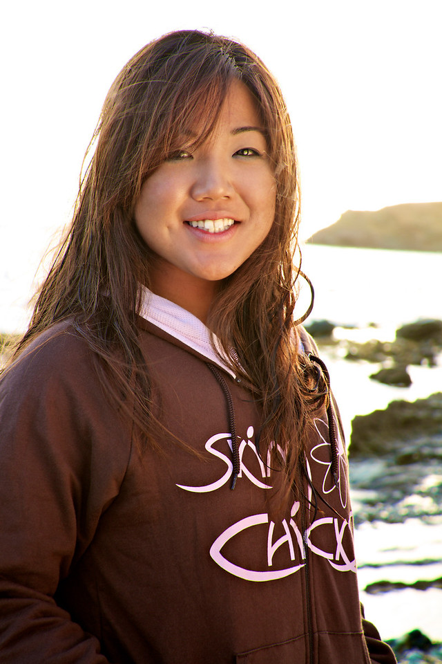 Niki shows us the pink and brown Skim Chicks hoodie.