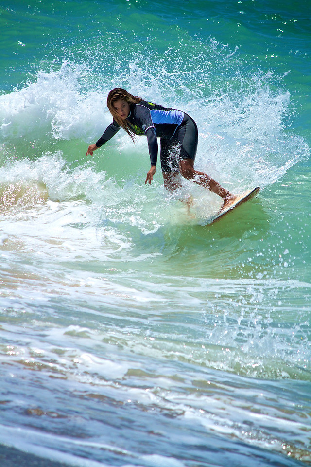 Silvia found some great waves during the competition.