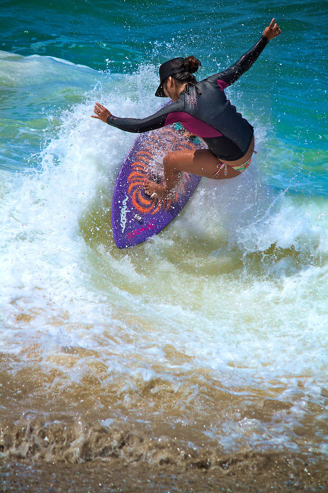 Looks like Niki found the perfect wave for this trick that scored some major points.