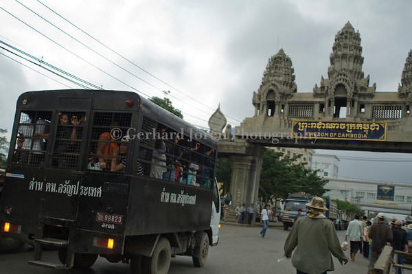 Cambodians being deported from Thailand at the border town of Poi Pet in Cambodia, next to Thailand