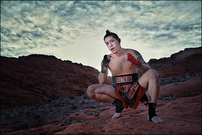 Muay Thai Fighter Anthony Castrejon.