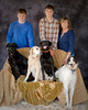 Connie McClaskey her boys and her dogs