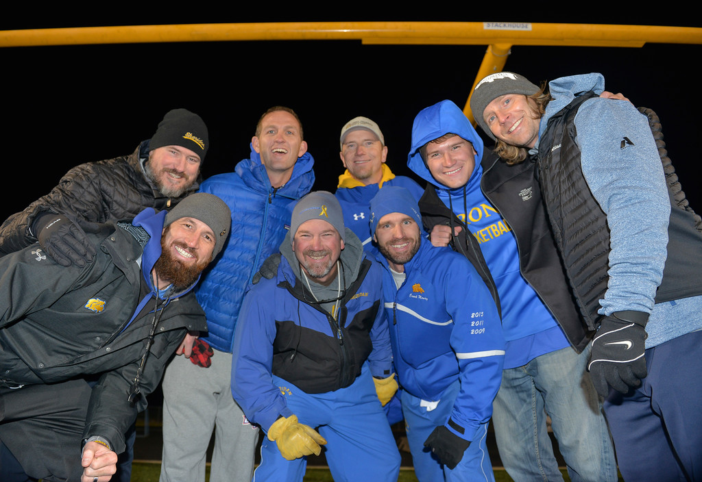 Justin Sheely | The Sheridan Press<br /> The Sheridan Broncs coaching staff, back row, from left: Kevin Rizer, Jeff Martini, DJ Dearcorn, Raith Durham and Darin Gilbertson. Front, from left: Marshall McEwen, head coach Don Jullian and Jeff Mowry.