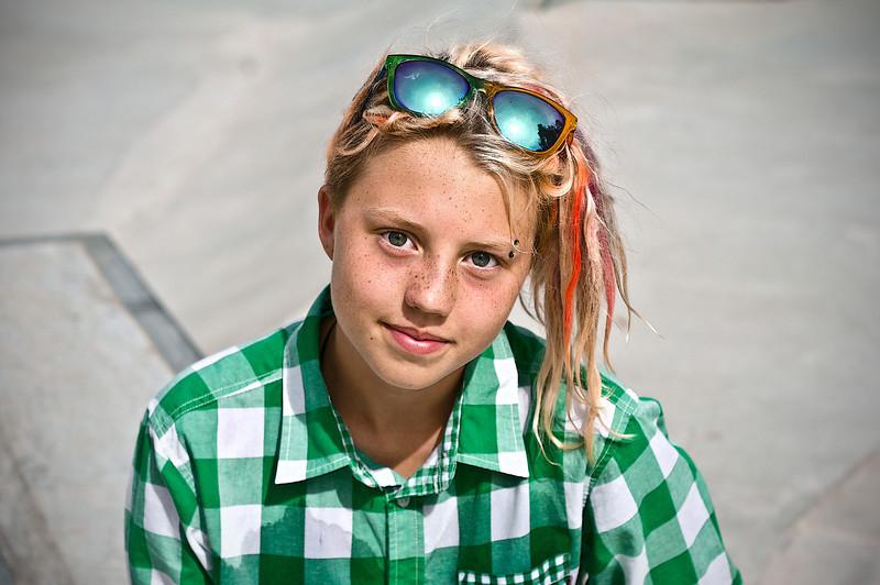 Girl at a skate park