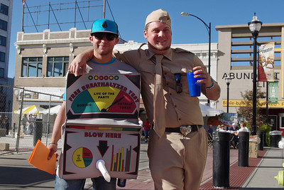 Two rude dudes - Blow Here and Soldier Boy - Octoberfest, downtown Springfield, MO, 10/1/11.