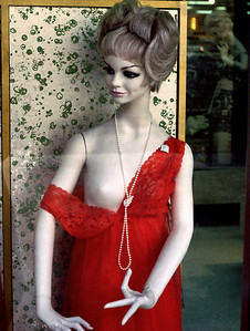 Shop window slut. Heer's Department Store, Springfield, MO, early 1970s.