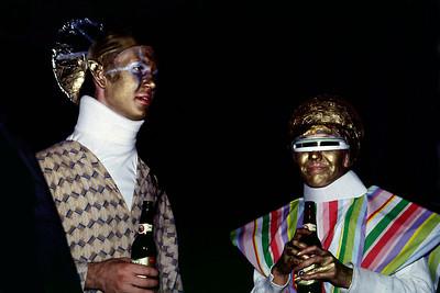 Extra terrestrials, Commercial Street, Springfield, Missouri, Halloween, 1982.