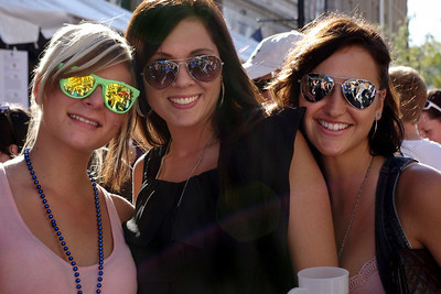 Three ladies - Octoberfest, downtown Springfield, MO, 10/1/11.