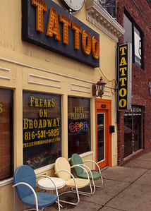 Freaks on Broadway Tattoo Shop, Kansas City, Missouri.