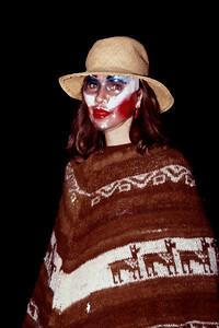 Peruvian princess, Commercial Street, Springfield, Missouri, Halloween, 1982.