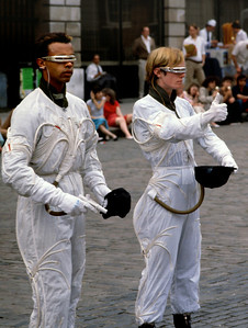 Two street performers, Covent Gardens, London.