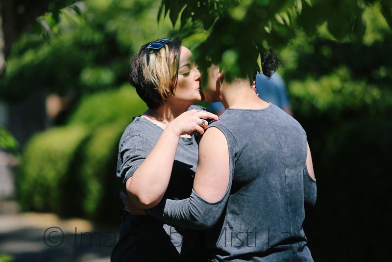 Surprise proposal becomes double surprise proposal in Japanese Tea Garden, San Francisco