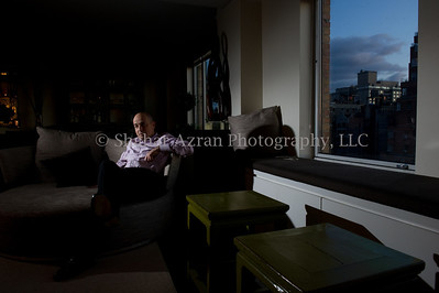 TEVA CEO Jeremy Levin at his home in New York. Photo credit: Shahar Azran  Rights: For ONE TIME use only in ASAKIM magazine on January 2012. Not for any additional use unless a written permission granted by Shahar Azran Photography, LLC and for an additional fee. Copyright: Shahar Azran Photography, LLC.